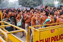 School Children Outside The Red Fort in Delhi India Stock Photos