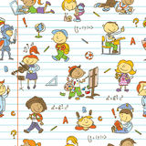 School children pattern Royalty Free Stock Image