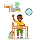 School children pupil in flat style Stock Image