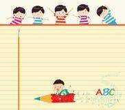 School children's background Stock Photo