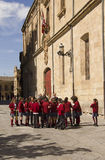 School children in Salamanca, Spain Royalty Free Stock Image