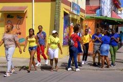 Teenagers/children in Antigua, Caribbean royalty free stock photos