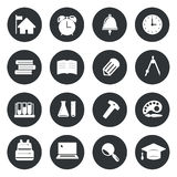 School Circle Icons set Vector. Vector illustration vector illustration