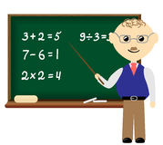 School class. Teacher is on the math class in school Royalty Free Stock Photography
