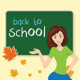 School class,with school board. With tex Stock Images