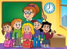 School class theme image 2. Eps10 vector illustration Royalty Free Stock Photo
