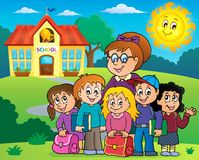 School class theme image 4. Eps10 vector illustration Royalty Free Stock Image