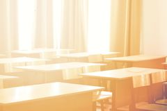 School classroom in background without young student. Concept back to school royalty free stock images
