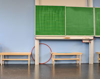 School Classroom with blackboard Royalty Free Stock Photography