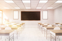School classroom interior with sun Royalty Free Stock Photography