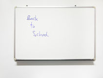 School classroom whiteboard with real writing - Back to school Stock Photo