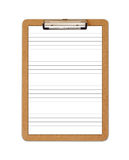 School Clipboard with ruled paper Royalty Free Stock Images