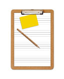 School Clipboard ruled paper Stock Photography
