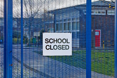 School is closed Royalty Free Stock Photo