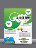 School or collage flyer or poster design template Stock Photography