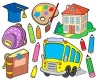 School collection 1. Vector illustration Royalty Free Stock Image