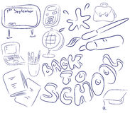 School collection. Objects are isolated on a white background Royalty Free Stock Images
