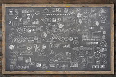 School college chalkboard hand drawn doodle sketch Stock Images