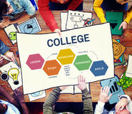 School College Education Intelligence Concept Royalty Free Stock Photos