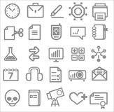 25 school and college icons. Vector education icons Stock Photo