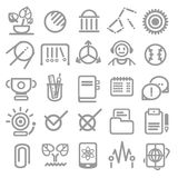 25 school and college icons Stock Images