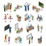 School College University Isometric Set royalty free illustration