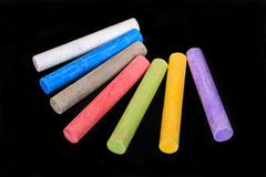 School colored crayons Stock Image