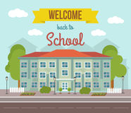 School Colored Poster Royalty Free Stock Image