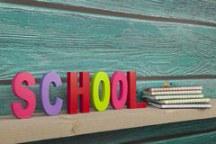 School in colorful letters Stock Photography