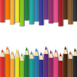 School colorful pencils  illustration Royalty Free Stock Photo