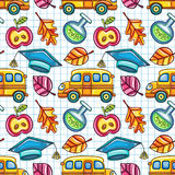 School Colorful Seamless Vector Pattern Royalty Free Stock Photos