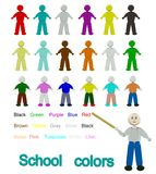 School colors Royalty Free Stock Photo