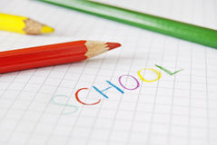 School coloured writing Royalty Free Stock Photography