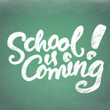 School is coming lettering (back to school){EPS10} Royalty Free Stock Images