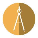 School compass tool study shadow Stock Photography