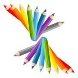 School composition of vector pencils Stock Photography