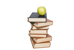 School concept. Apple and books Royalty Free Stock Photos