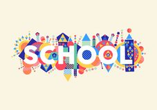 School concept illustration Royalty Free Stock Image