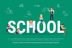 School concept illustration Stock Photo