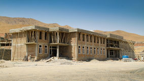 School construction in Afghanistan Stock Image