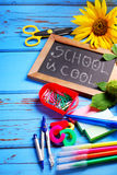 School is cool  border Royalty Free Stock Photo