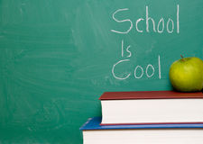 ' School is cool ' message Royalty Free Stock Image