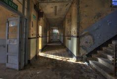 School corridor. Abandoned School Corridor in Wales Royalty Free Stock Images