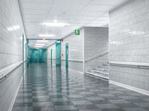 School corridor interior. Stock Photo