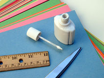 School and Craft Supplies Stock Photos