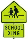 School Crossing. Sign stock photos