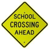 School Crossing Ahead Stock Photography