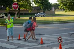 Free School Crossing Guard Royalty Free Stock Photography - 122039877