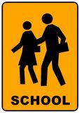 School crossing sign Stock Photos