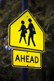 School Crossing Sign Stock Photo